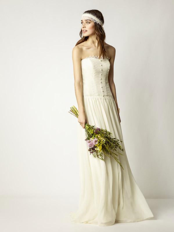 36197f42d545 Ma il pizzo non è l unico tessuto ideale per l abito da sposa vintage   anche la seta
