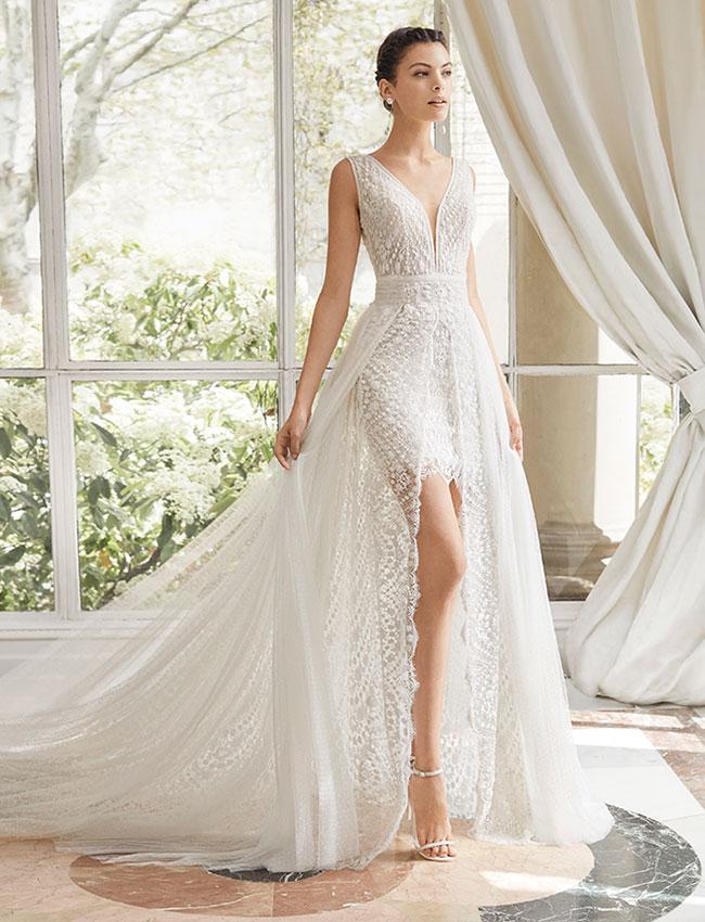 Abito Sposa Rosa Clara Couture 2019 Melanie