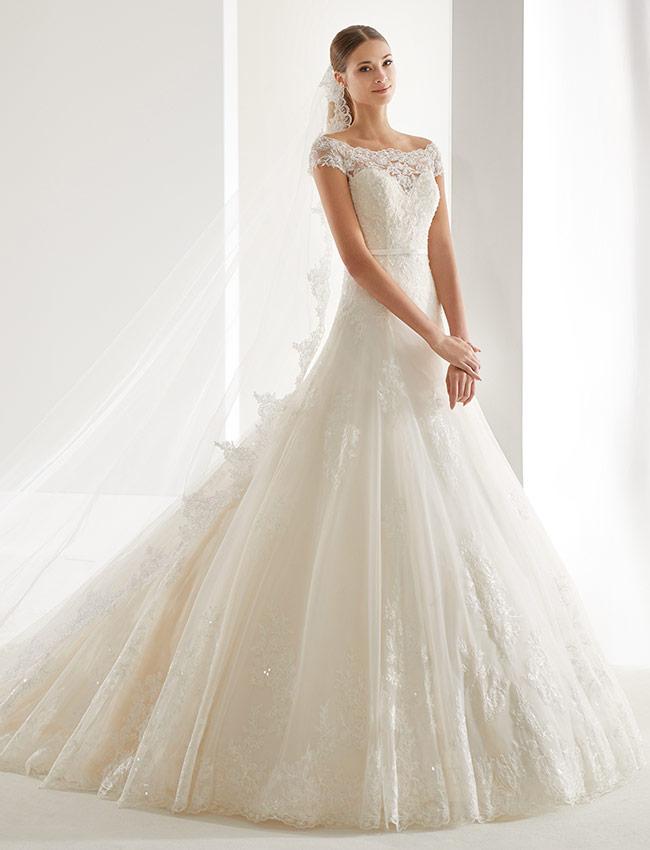 Aurora AUAB19952 Abito Sposa 2019. Gli abiti da sposa della Collezione ... 04f68b21d0b