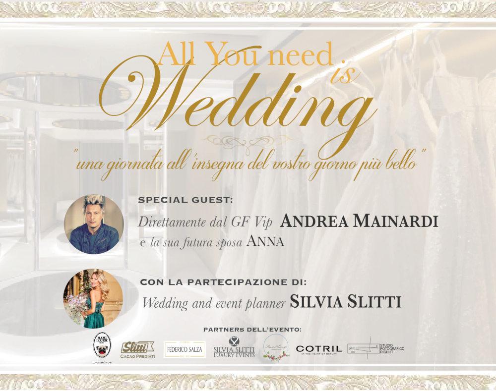 Invito evento All you need is Wedding